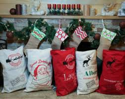 Mail Order Christmas Gifts Personalized Santa Sacks Candy Cane Stripe North Pole Mail