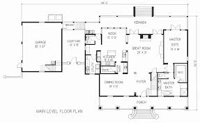 one level floor plans one story house plans with attached garage fresh house plan 1500 c