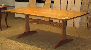 Custom Made Dining Room Tables by Handmade Cherry 3 Plank Trestle Dining Table By Pat Megowan