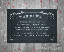 wedding money registry wishing well wedding insert instant printable