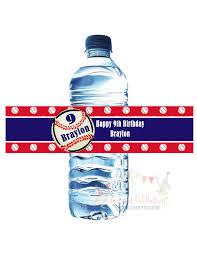 baseball water bottle labels waterproof baby shower or