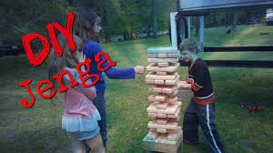 How To Make Backyard Jenga by How To Build A Giant Jenga Game With Adjustable Base For Camping