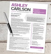 Best Resume Templates Etsy by The Ashley Resume Design Graphic Design Marketing Sales