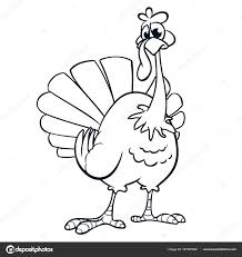 thanksgiving outline vector turkey for