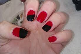 21 nail art designs black and red black and red rose nail art