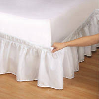 Wrap Around Bed Skirts Wrap Around Bed Skirts Drop Solid Color Elastic Bed Skirt Queen