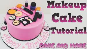 makeup cake toppers how to make a makeup cake tutorial bake and make with angela