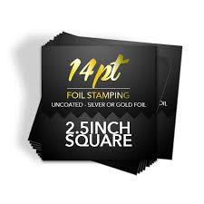 Business Cards With Foil Square Business Cards Premium Business Card Printing By