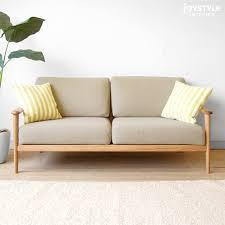 Wooden Frame Sofa Bed Joystyle Interior Rakuten Global Market 3 Wooden Sofa 3p Sofa
