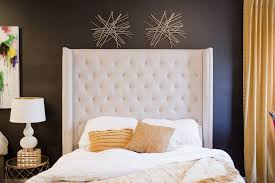 trendy tall tufted headboard med art home design posters