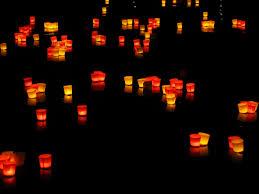 floating candles lights candles illuminated free image