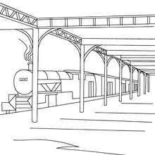 High Speed Rail Travelling In A Mountain Landscape Coloring Pages Rail Color Page