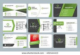 Flat Design Business Card Set Modern Business Card Templates Business Stock Vector 452444413