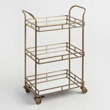 gold cole 3 tier rolling bar cart world market