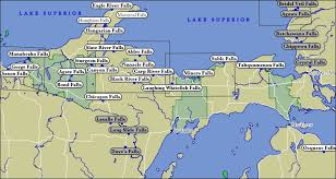 map of michigan map of michigan waterfalls