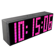 bedroom clocks ch kosda modern digital large led alarm clocks wall clock