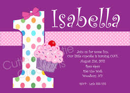 Create 1st Birthday Invitation Card For Free Cupcake Birthday Invitation Printable Or Printed Cupcake
