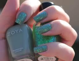 zoya nail polish color opal fleck effects over zoya nail