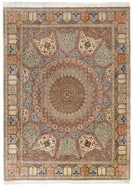 Signed Persian Rugs A Signed U0027qum Mousavi U0027 Silk Carpet With Dome And Mirhab Designs