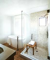 sliced java tan pebble tile shower floor 2tiles for ideas mosaic