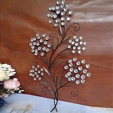 flower wall art decor lovely crystal wall decor 7 metal flower