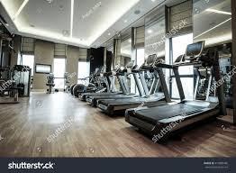 fitness club luxury hotel interior stock photo 412880485