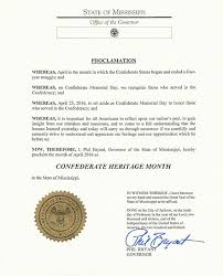 mississippi governor declares april u0027confederate heritage month