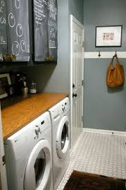 cute laundry room with rivers edge by behr paint color love the