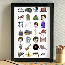 beatles wrapping paper beatles alphabet print by becka griffin illustration