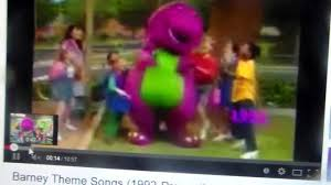 barney season 1 intro byg verison youtube
