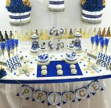 prince themed baby shower ideas royal blue candy buffet royal prince baby shower candy buffet