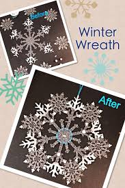 Pinterest Dollar Tree Crafts by Diy Dollar Tree Craft For 2 Homemade Winter Snowflake Wreath