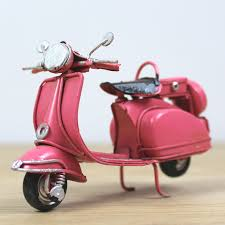 cheng yi home vespa scooter tin ornaments window