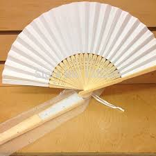 white paper fans aliexpress buy white paper fan with organza bag wedding