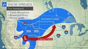 Storm Map Christmas Weekend Storm To Unfold With Snow Wind And Severe