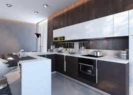 cuisine wengé decoration cuisine avec bar armoires blanches couleur wengé qeuls
