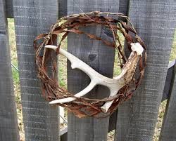 Barbed Wire Home Decor Barbed Wire Wreath Deer Antler Rusty Patina By Greenbriarcreations