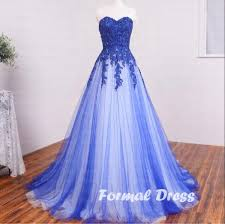 pretty dresses formal dress pretty a line sweetheart blue and white tulle lace