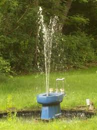 the toilet fountain redneck classic ponds fountains water
