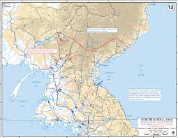 Un Map Map Of The Korean War October 1950