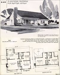 modern colonial house plans impressive 9 1950s colonial house plans 1955 modern home array