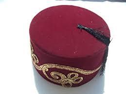 Ottoman Cap Embroidered Fez Fes Authentic Turkish Ottoman Hat