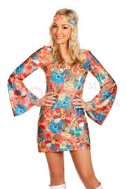 ladies 1960s 70s disco retro hippie go go costume