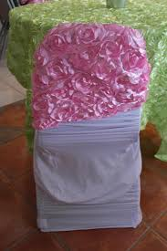 rosette chair covers pink chair cover 200 rosette chair caps tablecloth tradesy