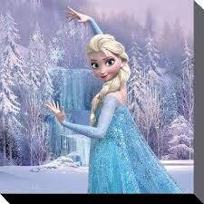 disney frozen elsa frozen forest canvas prints pyramidshop