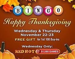 bingo thanksgiving celebration coushatta casino resort