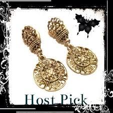 post type earrings sale hp x 2 vintage silver earrings vintage silver