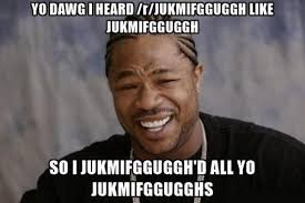Yo Dawg Know Your Meme - so you can jukmifgguggh while you jukmifgguggh meme memes and