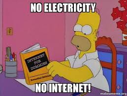 No Internet Meme - no electricity no internet internets homer make a meme