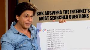 shah rukh khan replying most googled questions about him youtube